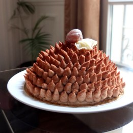 Chestnut hedgehog cake